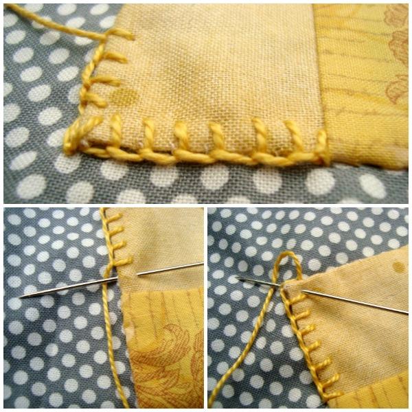 embroidery stitch button hole tutorial for applique / patchworkposse.com