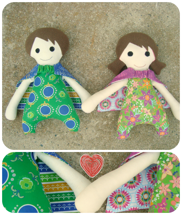 doll with reversible capes / patchwork posse #doll #superhero