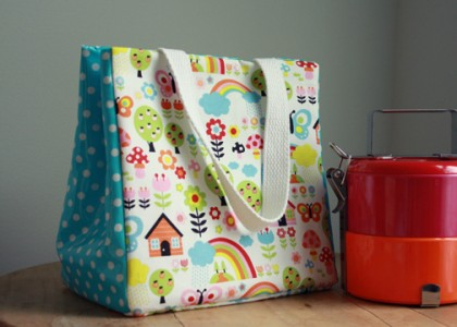 tutorial to make your own lunch bag