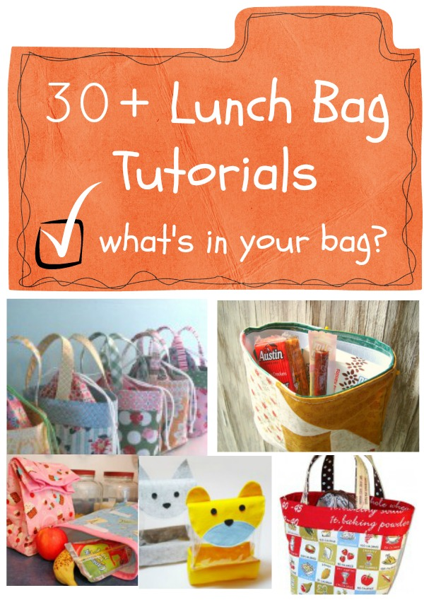 lunch bags you can sew 30 + lunch bag tutorials | sew them quick and cute! | patchworkposse.com