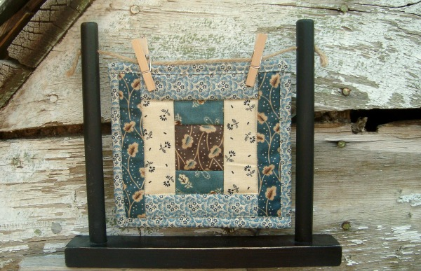 miniature quilt and hanger