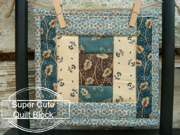 super cute mini quilt block
