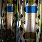 quilt block curtain
