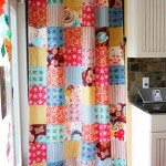 patchwork curtain made on maple
