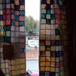 patchwork curtain farmhouse greetings