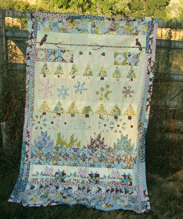 round robin quilt finished
