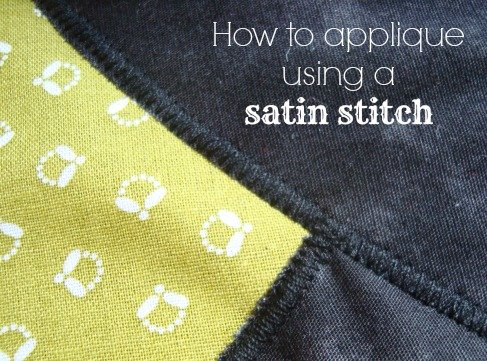 How to sew applique with a satin stitch / patchworkposse.com #applique