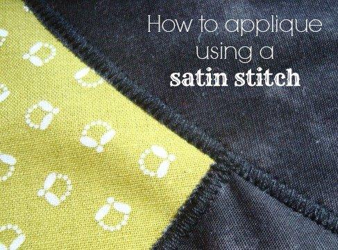 How to sew applique with a satin stitch / patchworkposse.com #applique