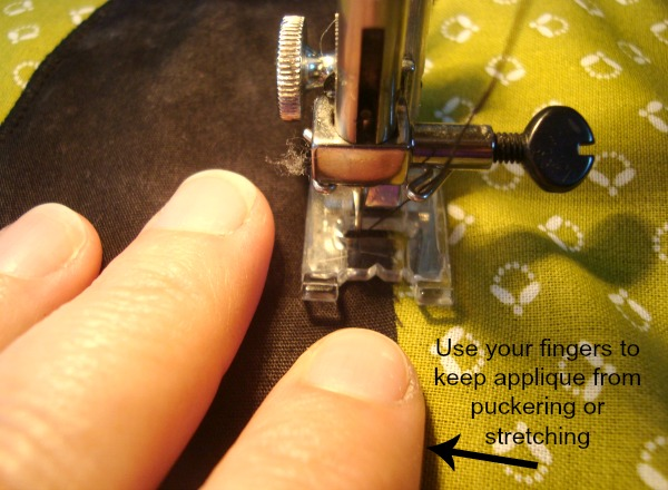 sew a zig zag on applique