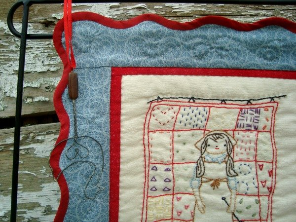 Embroidery Small Quilt {52 UFO Quilt Block Pick Up}