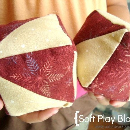 toy blocks with orphan quilt blocks tutorial / patchwork posse #tutorial #babytoys