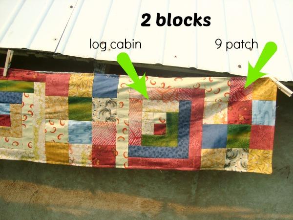 2 quilt block table runner / patchworkposse.com