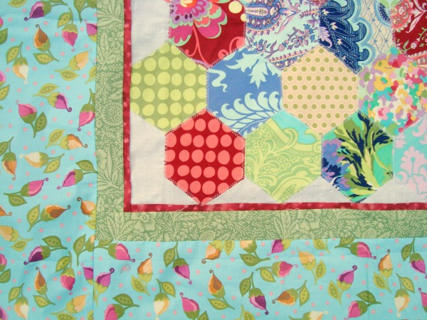 5 inch Hexagon Template Printable and Baby Quilt Pattern -