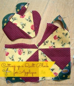 how to use applique to hide problems in your quilt blocks / patchworkposse.com