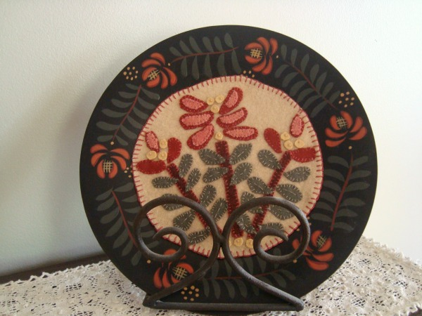 Quilt Block in center of a plate