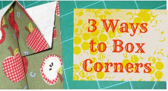 how to sew box corners 3 ways / patchworkposse.com #sewing #tutorial
