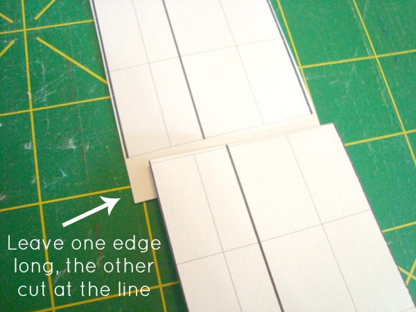 overlap the edges of the pattern templates and tape together