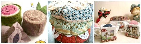 3 tutorials for sewing pin cushions