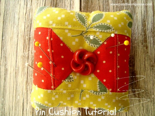 pin cushion tutorial using your orphan quilt blocks / patchworkposse.com #pincushions #tutorial