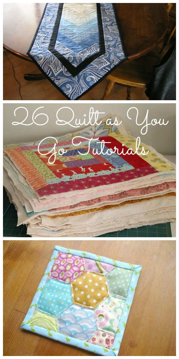 Quilt As You Go Tutorials: QAYG Video and 26 Quilt Tutorials