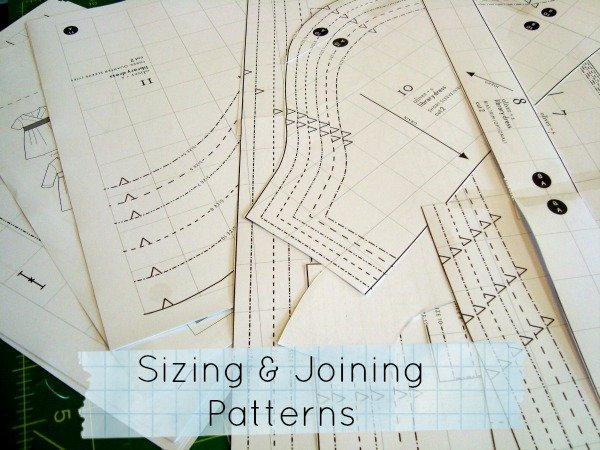 sizing and joining large apparel patterns / patchworkposse.com