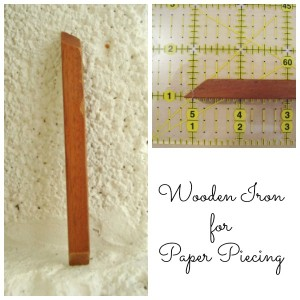 wooden iron for paper piecing