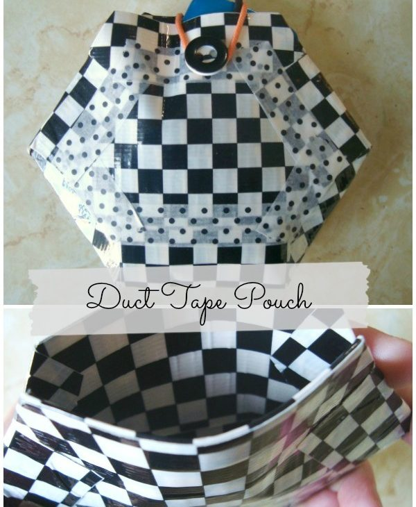 Make a Duct Tape pouch   #hexagon #ducttape