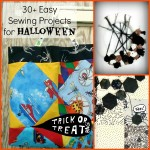 Over 30 easy sewing projects for Halloween including, bags, applique and quilts | patchworkposse.com