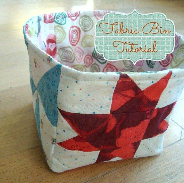 Fabric bin tutorial using your orphan quilt blocks | patchworkposse.com