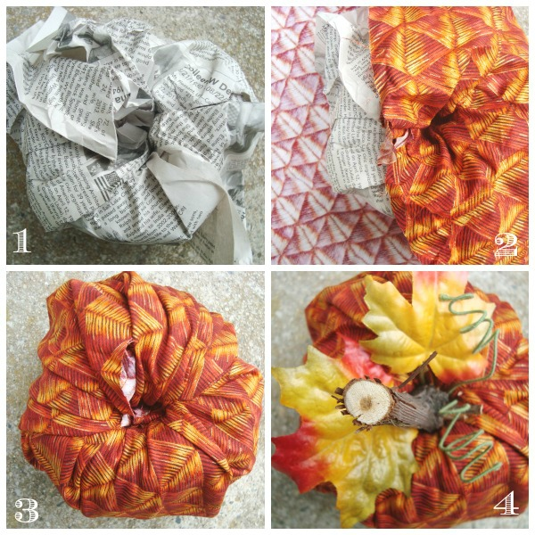 fabric pumpkin with a roll of toilet paper / patchworkposse.com