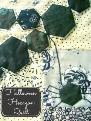 fat quarter quilt- hexagon spider web / patchworkposse.com