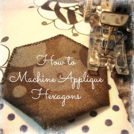 how to machine applique hexagons / patchworkposse.com