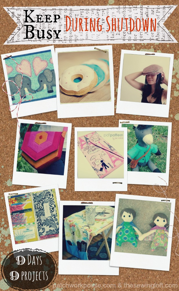 keep busy during shutdown   9 days 9 projects patchworkposse.com