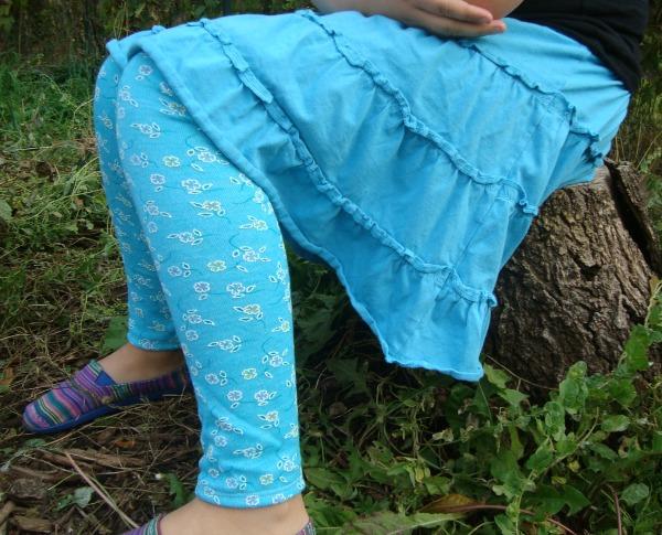 legging pattern for girls. easy to sew