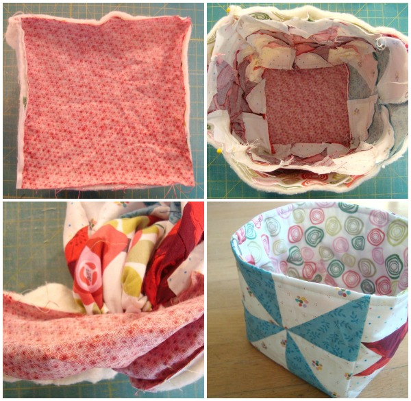 learn to make a fabric storage bin using quilt blocks | patchworkposse.com