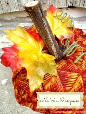 no sew pumpkin for the fall / patchworkposse.com