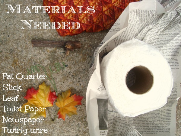 materials needed for fabric pumpkin