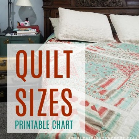 quilt size printable chart and the ultimate quilters library - all online!