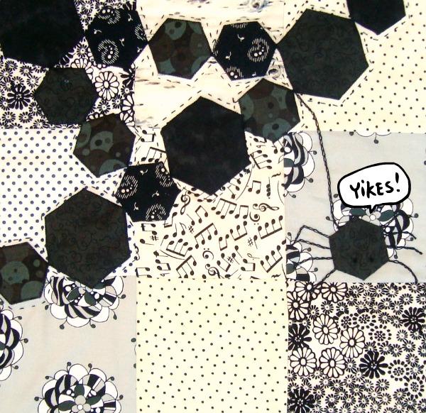 spider hexagon quilt pattern