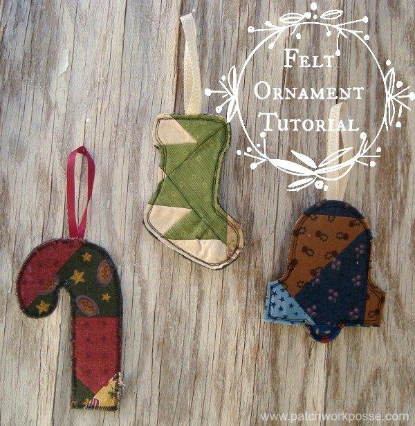 Felt Ornaments {52 Quilt Block Pick Up}