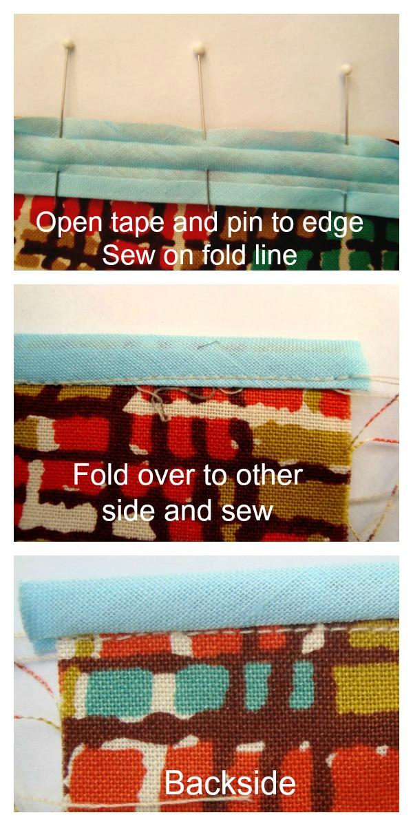 How to sew Hem Tape or Binding