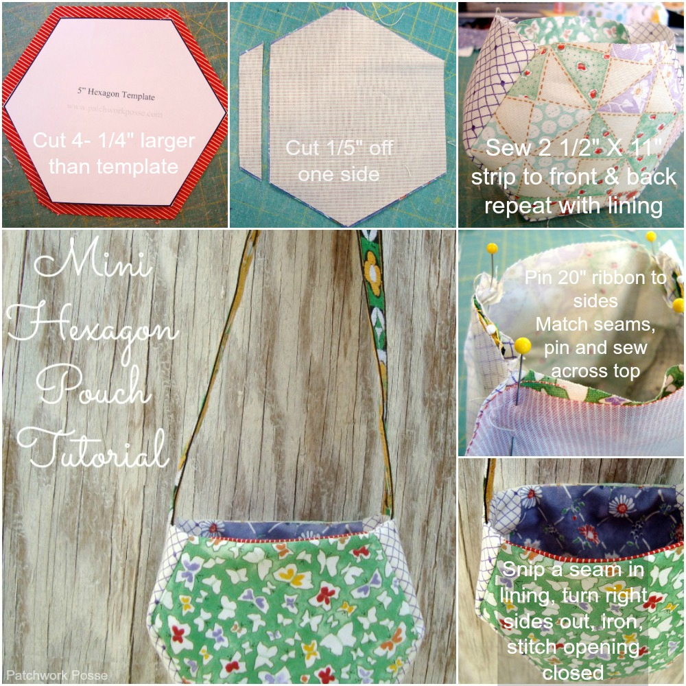 Hexagon Pouch Tutorial by Patchwork Posse