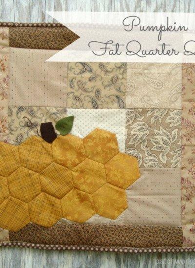 hexagon pumpkin fat quarter quilt tutorial   patchwork posse