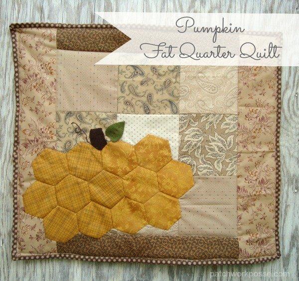 hexagon pumpkin fat quarter quilt tutorial | patchwork posse