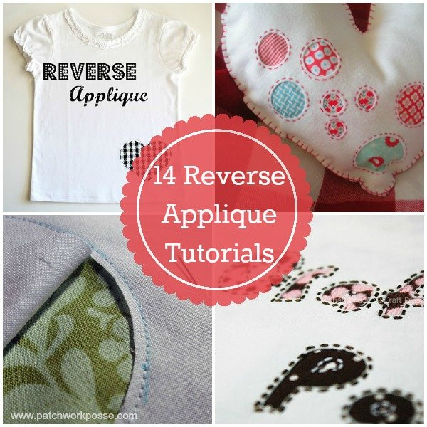 reverse applique tutorials - how to plus projects to practice on