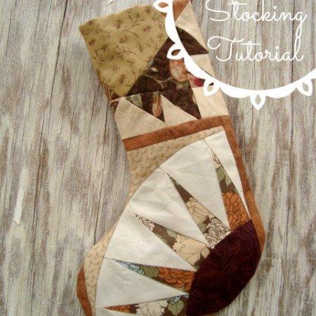 stocking tutorial using quilt blocks   patchwork posse