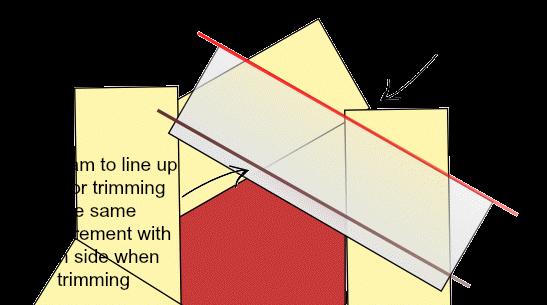trim the hexagon quilt block