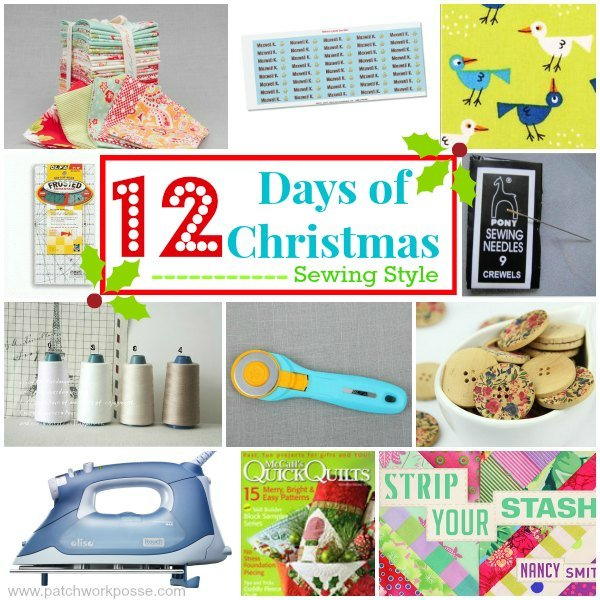 12 days of Christmas Sewing style. Come sing along! patchwork posse