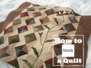 how to block a quilt
