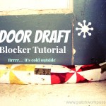 Sew your own Door Draft Blocker #tutorial patchworkposse.com